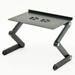 Zigzag Multi-angle Ergonomic Laptop Table With USB Cooler & Mouse Stand
