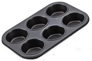 Muffin Tray 6 Bakeware - Cup Mould Tray