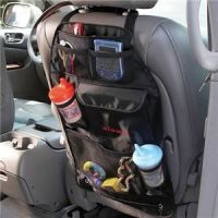 7 Pocket Automotive Car Back Seat Organiser With Umbrella Holder