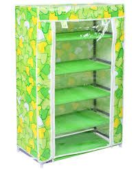 5 Layer Multipurpose Storage Rack Cum Shoe Rack With Cover Cupboard Foldabl