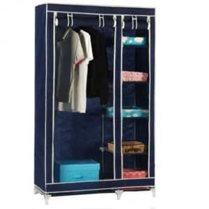 Blue Foldable Wardrobe Cupboard Almirah Best Quality