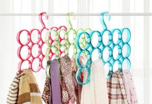 Buy 1 Get 1 Free Round Plastic Scarf Hanger 15 Holes For Scarves/ties/belts