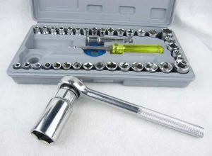 Hardware, Tools - 40pcs Cars Tools socket set socket wrench combination package metal auto repair tools