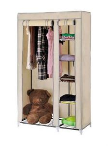 Beige Foldable Wardrobe Cupboard Almirah Best Quality