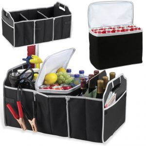 Car Accessories (Misc) - Insulated Leak Proof Collapsible Car Boot Trunk Organiser & Cooler