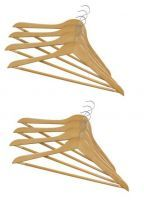 Set Of 8 Premium Maple Wood Luxury Hangers