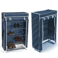 Portable Folding 4 Layer Shoe Rack With Cove