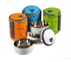 3 Layer Lunchbox With Stainless Steel And Air Tight
