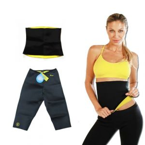 Hot Shapers Pant And Belt Exercise Thigh Leg Tummy Trim Hotshapers Combo