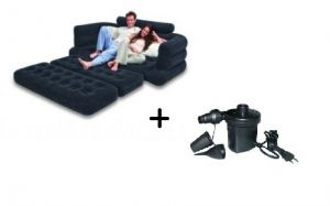 Home Utility Furniture - Intex Inflatable Full Size Pull-out Sofa Cum Bed with Pump