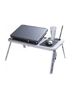 New Foldable Laptop Stand With 2 Cooling Fan E Table