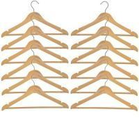 Wooden Hangers - Pack Of 12