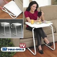 Study, Work Furniture - Portable Adjustable Dinner Cum Laptop Tray Etable