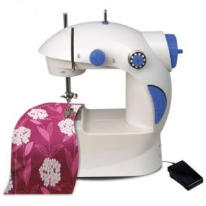 Sewing Machine - 4 In 1 Mini Sewing Machine With Adapter And Foot Pedal