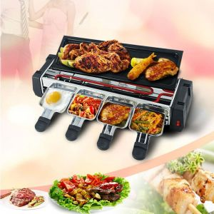 Cooking Ranges - Hy-9099a 1200w Portable 3rd Gen Bbq Barbecue Electric Griller Non Stick