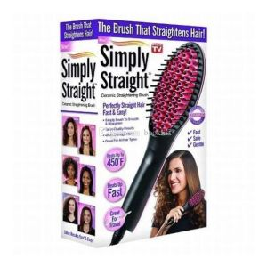 Hair Care - Simply Straight Ceramic Electric Degital Control Antiscaled Fast Hair Straightener Brush Comb Irons LCD Display