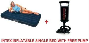 Intex Inflatable Single Bed Matress With Free Pump