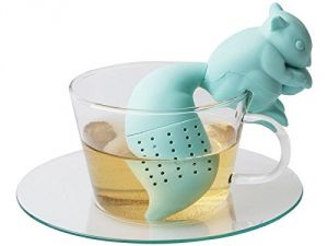 Silicon Tea Infuser/strainers (blue Or Orange Squirrel)