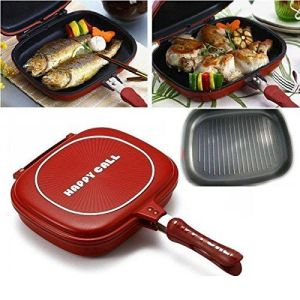 Happycall Foldable Double Sided Multi Purpose Nonstick Grill-pressure-frying-pan