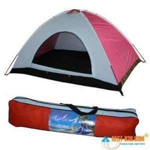 Anti Ultraviolet 4 Person Camping Tent With Hiking Pole