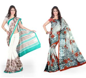 Styloce Cotton Sarees - Styloce Set Of 2 Cotton Saree Combo . STY-8760-8762