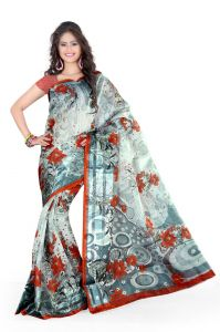 Cotton Sarees - Styloce Grey Cotton Saree (Code - STY-8762-SS1)