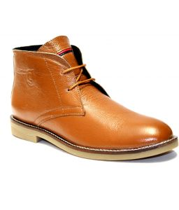 Guava Tan Leather Boots