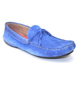 Guava Electric Blue Leather Loafer
