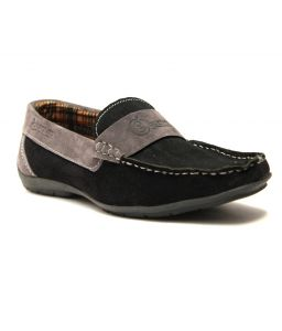 Guava Black & Grey Leather Loafer