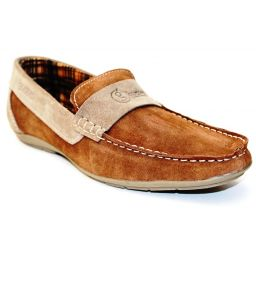 Guava Brown Leather Loafer
