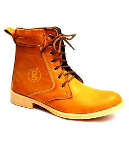 Guava Plain Toe Boot Musterd
