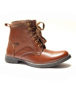 Guava Stylish Brown Leather Boots