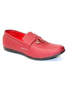 "Guava Cherry Synthetic Leather Men""s Casual Loafer Shoes"