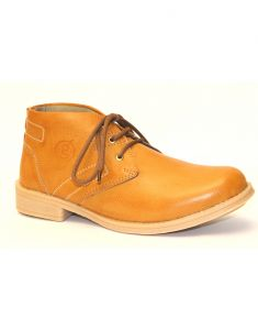 "Guava Tan Faux Leather Men""s Casual Ankle Shoes"
