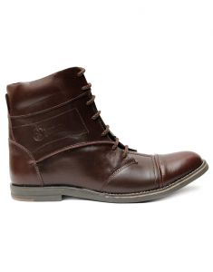 "Guava Brown Genuine Men""s Leather Boots"