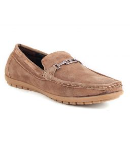 Guava Brown Leather Loafer - Gv15ja149
