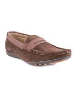 Guava Brown Leather Loafer-gv15ja153