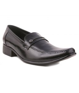 Guava Leather Formal Shoes - Black-gv15ja157