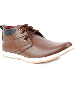 Guava Leather Ankle Casual Shoes - Brown-gv15ja174
