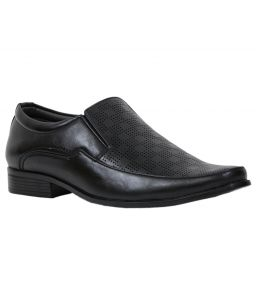 Guava Laser Slip-on Formal Shoes - Black - Gv15ja190