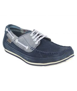 Boat shoes for men - Guava Leather Blue Boat Shoes for Men - Product Code (GV15JA211)