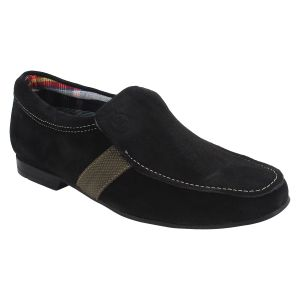 Guava Sleek Suede Black Loafers For Men - Product Code (gv15ja219)