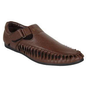 "Guava Men""s Brown Sandals - (product Code - Gv15ja282)"
