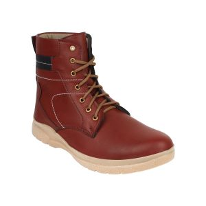 "Guava Men""s Plain Toe Brown Boots - (product Code - Gv15ja286)"