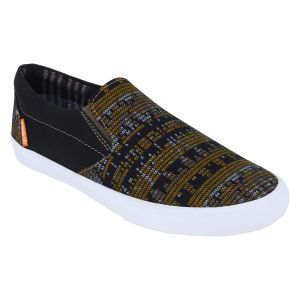 "Guava Men""s Black Slip-on Sneakers - (product Code - Gv15ja291)"