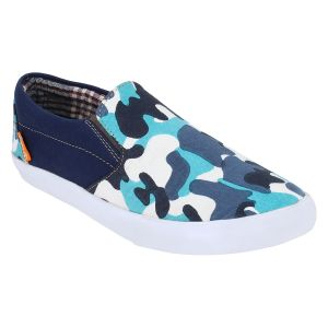 "Guava Men""s Blue Slip-on Sneakers - (product Code - Gv15ja293)"