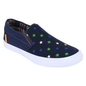 "Guava Men""s Blue Slip-on Sneakers - (product Code - Gv15ja295)"