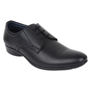 "Guava Men""s Black Leather Formal Shoe - (product Code - Gv15ja296)"