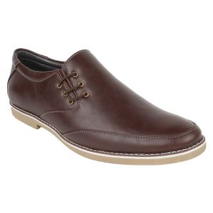 "Formal Shoes (Men's) - Guava Men""s Brown Side Lace-up Formals Shoes - (Product Code - GV15JA307)"