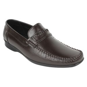 "Formal Shoes (Men's) - Guava Men""s Brown Leather Formal Shoe - (Product Code - GV15JA308)"